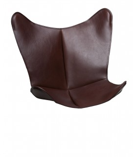 BKF CHAIR COVER IN DARK BROWN WAXED LEATHER
