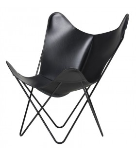 BKF CHAIR IN BLACK LEATHER
