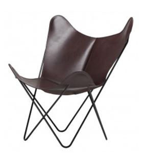 BKF CHAIR IN DARK BROWN LEATHER