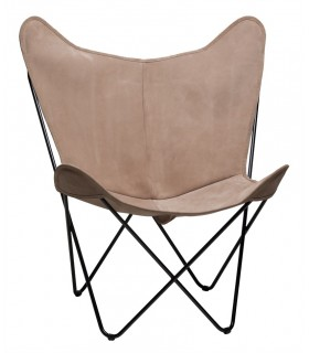 BKF CHAIR IN CAMEL NUBUCK