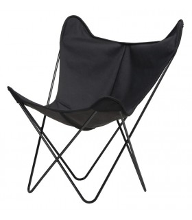 BKF CHAIR IN BLACK CANVAS